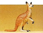 Standing Kangaroo -- Model Railroad Figure -- 1/25 Scale -- #47537