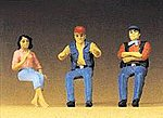Seated Truck Drivers -- Model Railroad Figures -- 1/24 Scale -- #57001