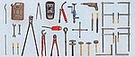 Hand Tools Kit -- Model Railroad Building Accessory -- G Scale -- #57301
