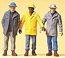 Men In Hardhats -- Model Railroad Figures -- 1/32 Scale -- #63051