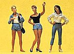 Female Teenagers Standing (3) Slot Car Figure Set -- 1/32 Scale Slot Car Scale Figures -- #63070