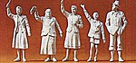 World War II Civilians at Curb -- Model Railroad Figures -- 1/35 Scale -- #64002