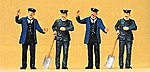 1900 German Locomotive Engineers & Firemen -- Model Railroad Figures -- O Scale -- #65305