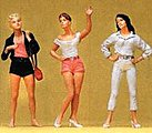 Teenage Girls -- Model Railroad Figures -- O Scale -- #65312
