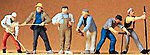Construction Workers -- Model Railroad Figures -- O Scale -- #65331