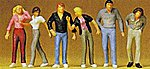 Walking People -- Model Railroad Figures -- 1/72 Scale -- #72402