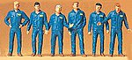 Mechanics In Coveralls -- Model Railroad Figures -- 1/72 Scale -- #72406