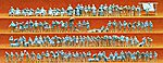 Unpainted Walking People Set -- Model Railroad Figures -- N Scale -- #79006