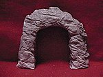 Rough Round Blasted Rock Tunnel Portal -- HO Scale Model Railroad Tunnel -- #118