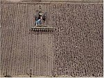 Plowed Field -- HO Scale Model Railroad Earth -- #701