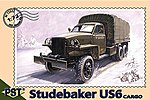 US6 Studebaker Cargo Truck -- Plastic Model Military Truck Kit -- 1/72 Scale -- #72022