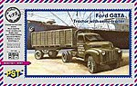 Ford G8TA Tractor w/Semi-Trailer -- Plastic Model Military Truck Kit -- 1/72 Scale -- #72065