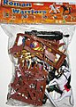 1/32 Roman Warriors & Armor Figure Playset (8 w/2 Horses, Cannon, Catapult & Acc) (Bagged)