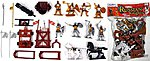1/32 Russian Knights Figure Playset (8 w/Weapons, Catapults & 2 Horses) (Bagged)