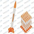 Starhawk Value Pack Model Rocket Kits Skill Level 1 (12) -- Model Rocket Kit Educator Pack -- #5483