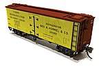 37' GARX Meat Reefer HOR (4) -- N Scale Model Train Freight Car -- #521017