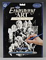 Glow/Dark Engraving Art Monsters -- Scratch Art Metal Art Kit -- #glo11