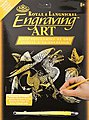 Gold Foil Engraving Art Baby Dragon -- Scratch Art Metal Art Kit -- #golf28