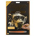 Gold EA Almost Human -- Scratch Art Metal Art Kit -- #golf30