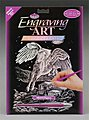 Holographic Foil Engraving Pegasus -- Scratch Art Metal Art Kit -- #holo12