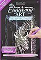 Mini Holographic Engravng Art Forest Dragon -- Scratch Art Metal Art Kit -- #holomin-105