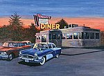 Adult PBN 50'S Diner -- Paint By Number Kit -- #pal28
