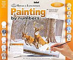 Adult PBN White Tails -- Paint By Number Kit -- #pal34