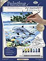 PBN Canvas Dolphin Island 9x12 -- Paint By Number Kit -- #pcs13