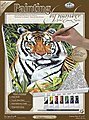 PBN Canvas Tiger in Hiding 9x12 -- Paint By Number Kit -- #pcs4