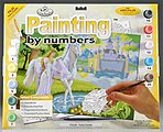 Junior PBN Fairy Castle 15x11-1/4 -- Paint By Number Kit -- #pjl20