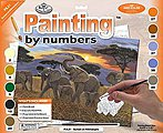 JR PBN Large Sunset on Kilimanjaro -- Paint By Number Kit -- #pjl21