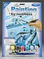 Junior PBN Dolphins 8-3/4x11-3/4 -- Paint By Number Kit -- #pjs24