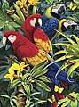 PBN JR Small Majestic Macaws -- Paint By Number Kit -- #pjs83