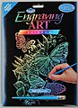 Rainbow Foil Engraving Butterflies -- Scratch Art Metal Art Kit -- #rain12