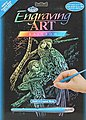 Rainbow Foil Engraving Art Tropical Birds -- Scratch Art Metal Art Kit -- #rain13