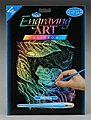 Rainbow Engraving Art Frog -- Scratch Art Metal Art Kit -- #rain15