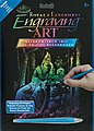 Rainbow Engraving Art Wizard -- Scratch Art Metal Art Kit -- #rain20
