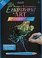 Rainbow Engraving Art Dancing Fairy -- Scratch Art Metal Art Kit -- #rain21