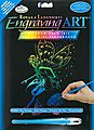 Rainbow Engraving Art Fairy Princess -- Scratch Art Metal Art Kit -- #rain22