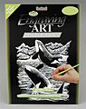Silver Foil Engraving Art Orca Whale -- Scratch Art Metal Art Kit -- #silf19