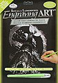 Silver Engraving Art Dragon Tower -- Scratch Art Metal Art Kit -- #silf26
