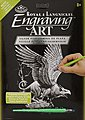 Silver Engraving Art Screaming Griffin -- Scratch Art Metal Art Kit -- #silf27