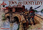 Town & County Levy (40) -- Plastic Model Military Figure -- 1/72 Scale -- #72041