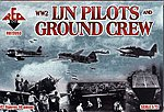 WWII Japanese Navy Pilots & Crew -- Plastic Model Military Figure -- 1/72 Scale -- #72053