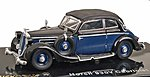 1939 Horch Audi 930V Cabriolet Top Up Black & Blue -- HO Scale Model Railroad Vehicle -- #38580