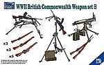 WWII British Commonwealth Weapon Set B -- Plastic Model Weapon Set -- 1/35 Scale -- #30011