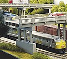 50' Highway Overpass w/Pier -- Model Railroad Bridge -- N Scale -- #152