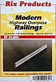 50' Modern Highway Railings (4) -- Model Railroad Bridge -- N Scale -- #164