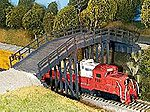Rural Timber Overpass -- Model Railroad Bridge -- HO Scale -- #200