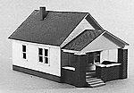 1 Story House w/Front Porch -- Model Railroad Building -- HO Scale -- #202